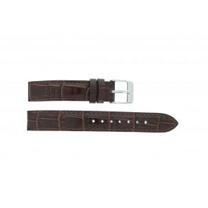 Lorus bracelet de montre V501 X292 / RRS73UX-9 / V501- X29201A Cuir Brun 14mm + coutures défaut