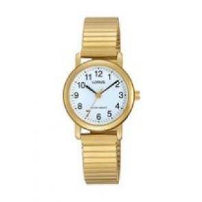 Bracelet de montre Lorus RRS78VX9 / V501 X471 / RHN147X Acier Plaqué or 13mm