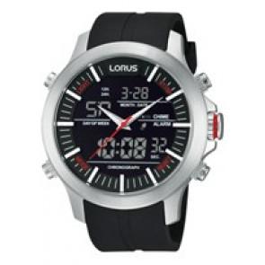 Bracelet de montre Lorus Z021-X002-RW607AX9 Caoutchouc Noir 21mm