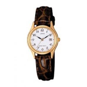 Bracelet de montre Lorus VX82 X285 / RXT94AX9 Cuir croco Brun