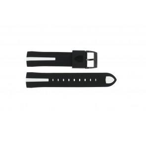 Bracelet de montre Ferrari SF103.7 / 0830104 / SF689300058 Caoutchouc Noir 22mm