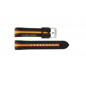 Ferrari bracelet de montre SF101.5/ 0830072 / SF689300008 / Scuderia Caoutchouc Noir 22mm