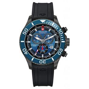 Bracelet de montre Swiss Military Hanowa 06-4226.30.003-SM34223AEU Caoutchouc Noir 22mm