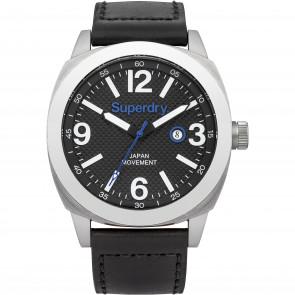 Bracelet de montre Superdry SYG144BB Cuir Noir 24mm