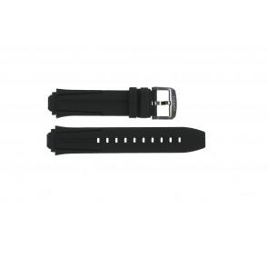 Bracelet de montre Tissot T1114173744103A / T1114173744107A / T603042129 Silicone Noir 18mm