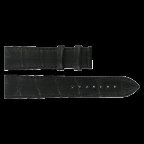 Bracelet de montre Tissot T0636101605800 / T610031945 Cuir Noir 20mm