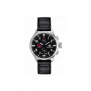 Bracelet de montre Tommy Hilfiger TH-102-1-14-0878 Cuir Noir 20mm