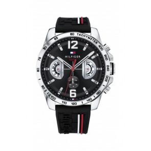 Bracelet de montre Tommy Hilfiger TH-320-1-14-2380 / TH1791473 / TH679302202 Caoutchouc Noir 22mm