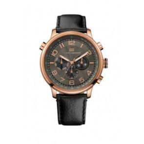 Bracelet de montre Tommy Hilfiger TH.145.1.34.1051 Cuir Noir