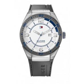 Bracelet de montre Tommy Hilfiger TH12512909 / TH675010692 Caoutchouc Gris 21mm