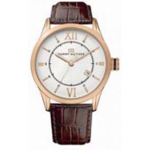 Bracelet de montre Tommy Hilfiger TH-85-1-34-0816 - TH679301079 Cuir Brun 21mm