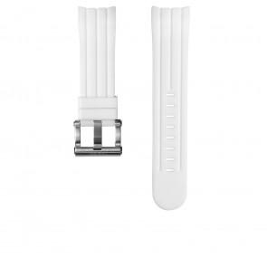 Bracelet de montre TW Steel TWB133 Caoutchouc Blanc 24mm
