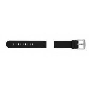 TW Steel bracelet de montre TW581 En caoutchouc Noir 24mm