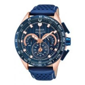 Bracelet de montre Pulsar VK63-X001-PU2082X1 Cuir Bleu