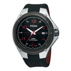 Bracelet de montre Pulsar VX42-X283-PXH797X1 Cuir Noir