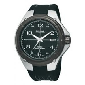 Bracelet de montre Pulsar VX42-X283-PXH799X1 Cuir Noir