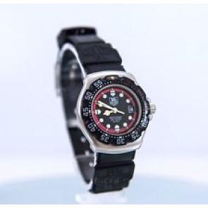Bracelet de montre Tag Heuer WA1411 Caoutchouc Noir 15mm