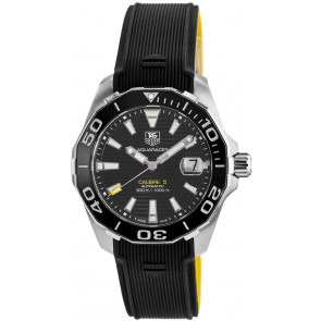 Bracelet de montre Tag Heuer WAY211A / FT6068 Caoutchouc Noir 21mm