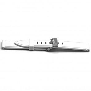 Bracelet de montre Universel XH21 Caoutchouc Blanc 22mm