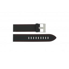 Bracelet de montre Universel XH19 Silicone Noir 22mm