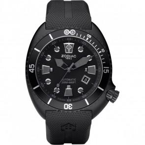 Bracelet de montre Zodiac ZO8010 Caoutchouc Noir 24mm