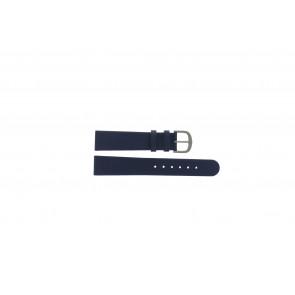 Danish Design bracelet de montre ADDBE18 Cuir Bleu 18mm