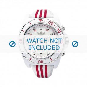 Adidas bracelet de montre ADH2666 Silicone Blanc 24mm