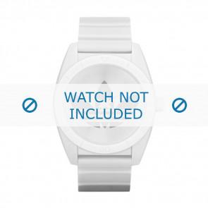 Adidas bracelet de montre ADH2703 Silicone Blanc 22mm
