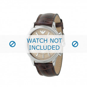 Armani bracelet de montre AR0562 Cuir Brun 21mm + coutures brunes