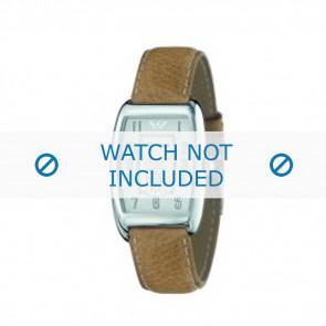 Armani bracelet de montre AR-0901 Cuir Brun clair 19mm