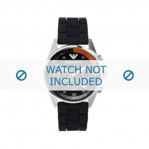 Armani bracelet de montre AR5878 Silicone Noir 24mm
