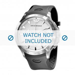 Armani bracelet de montre AR0634 Silicone Noir