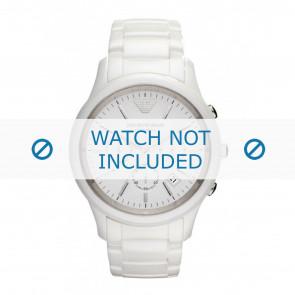 Armani bracelet de montre AR1453 Céramique Blanc 22mm