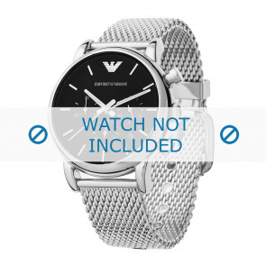 Armani bracelet de montre AR1811 Métal Argent 20mm