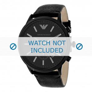 Armani bracelet de montre AR2461 Cuir Noir 24mm