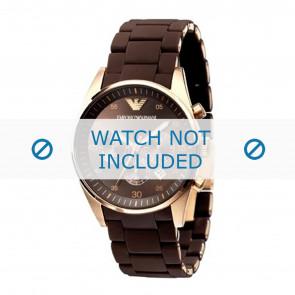 Armani bracelet de montre AR5891 Plastique Brun 24mm