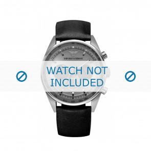 Armani bracelet de montre AR5994 Cuir Noir 23mm