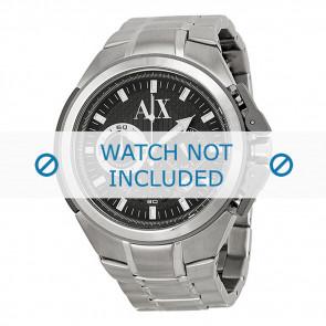 Armani bracelet de montre AX-1039 Métal Argent 27mm