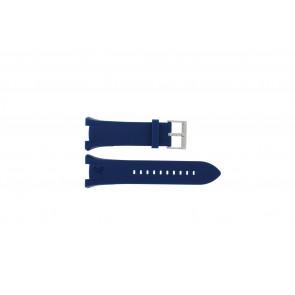 Armani bracelet de montre AX-1041 En caoutchouc Bleu clair 21mm