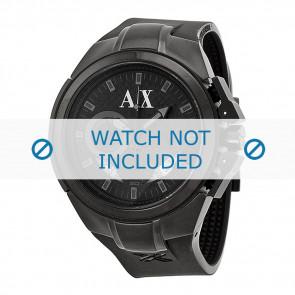 Armani bracelet de montre AX-1050 Silicone Noir 14mm