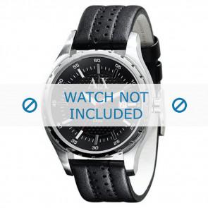Armani bracelet de montre AX-1055 Cuir Noir 22mm
