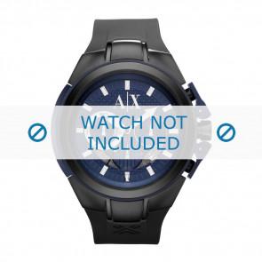 Armani bracelet de montre AX-1114 Silicone Noir 14mm