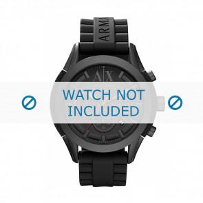 Armani bracelet de montre AX-1212 Silicone Noir 22mm
