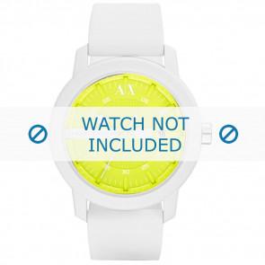 Armani bracelet de montre AX-1241 Silicone Blanc 22mm