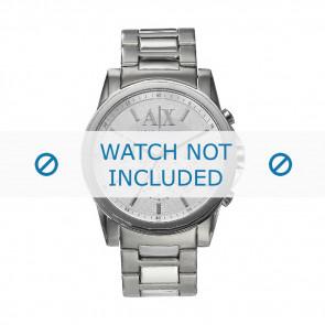 Armani bracelet de montre AX-2058 Métal Argent 22mm
