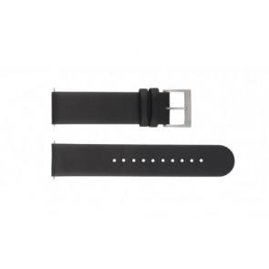 Mondaine bracelet de montre BM20063 / FE16822.20Q Cuir Noir 22mm