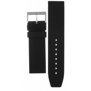 Mondaine bracelet de montre BM20068 / FP9624.20Q.1 RUBB. Caoutchouc Noir 24mm