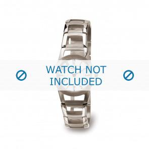 Boccia bracelet de montre 3140-01 Titane Argent 22mm