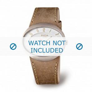 Boccia bracelet de montre 3165.01 Cuir Brun 26mm + coutures brunes
