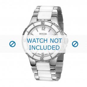 Boccia bracelet de montre 3215.01  Céramique Blanc
